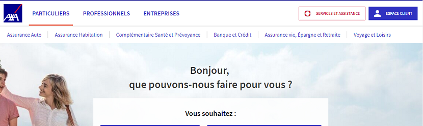 capture ecran site axa france