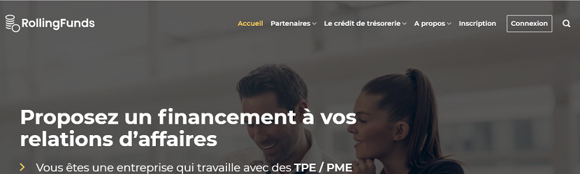 capture ecran du site Rollingfunds