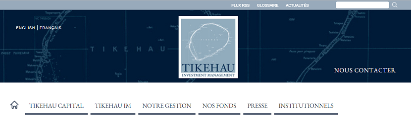 capture ecran du site Tikehau Capital